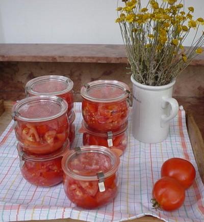 frisches gemüse und obst jetzt einkochen - hier: tomaten!