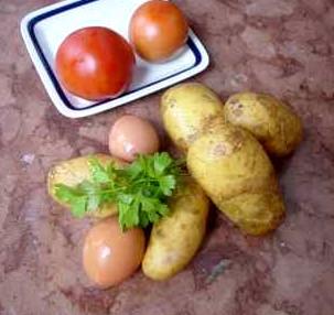 gesund vollwertig kartoffel und ei