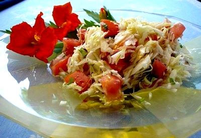 Kraut Tomaten Salat